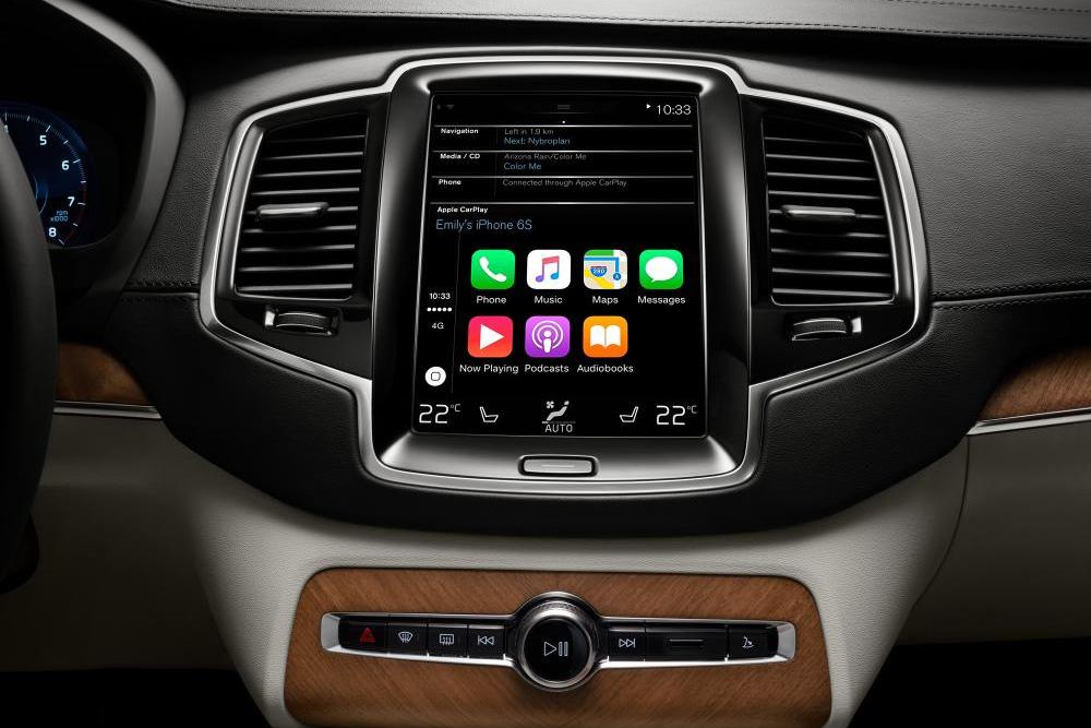 Apple CarPlay running on a Volvo XC90