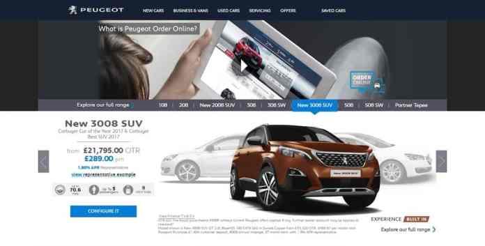 Peugeot Order Online (The Car Expert)