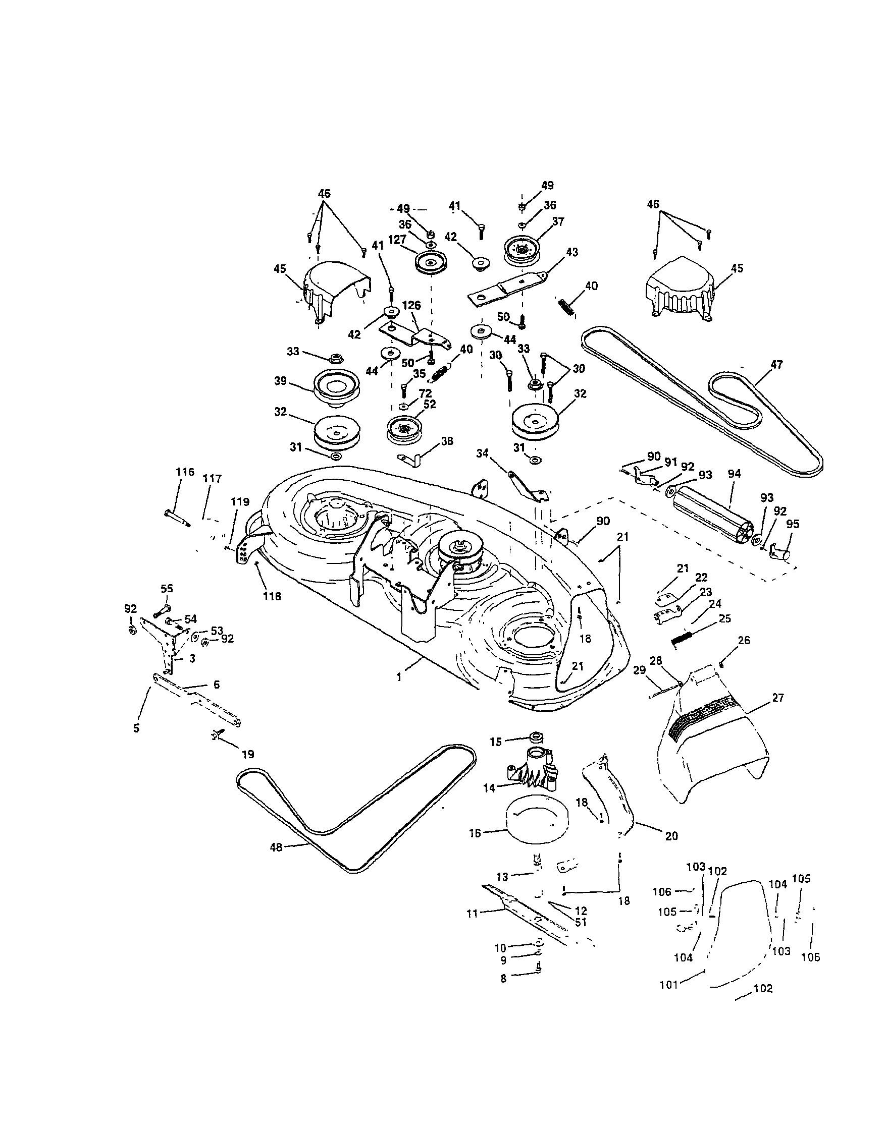 Husqvarna Mower Deck Belt Diagram