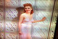 Betty Grable peach evening dress