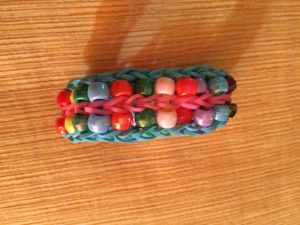 bracelet made with bands and beads