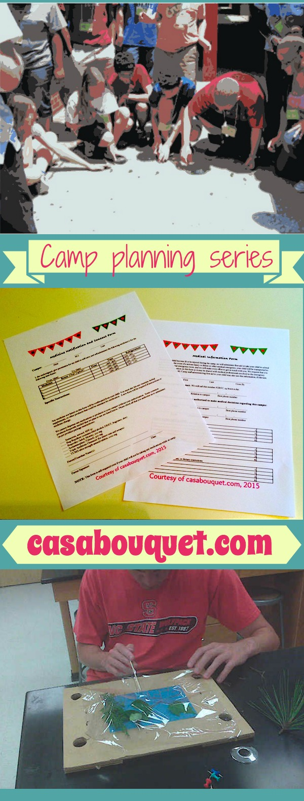 Camp planning posts for parents, educators, and volunteers. Download free forms, and find tips for movies, closing ceremony, and safety. Resource links!