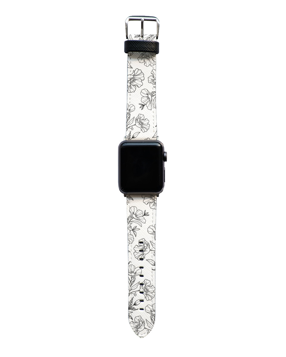 Flower Outline Apple Watch Strap The Case Bible