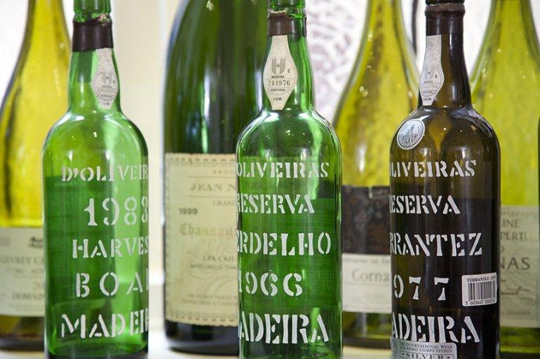 Madeira Bottles in Castle Bow Restaurant