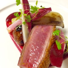 Duck with Cherries and Chicory
