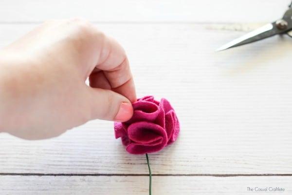 Como fazer sem costura flores de feltro