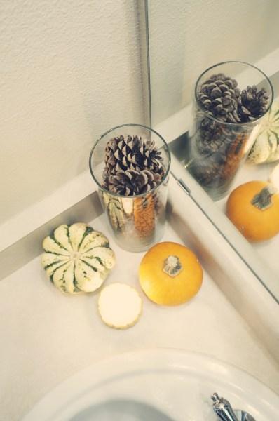 Fall Decor Powder Room - 12
