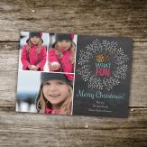 Holiday photo Card chalkboard