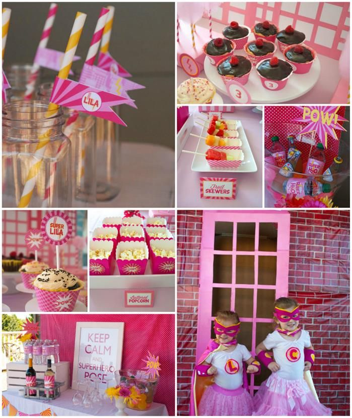 Pink Super Hero Party