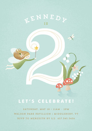 Minted Woodland Fairy Kids Birthday Party Invitation