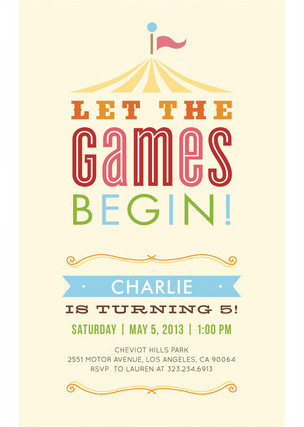 Minted Carnival Kids Birthday Party Invitation