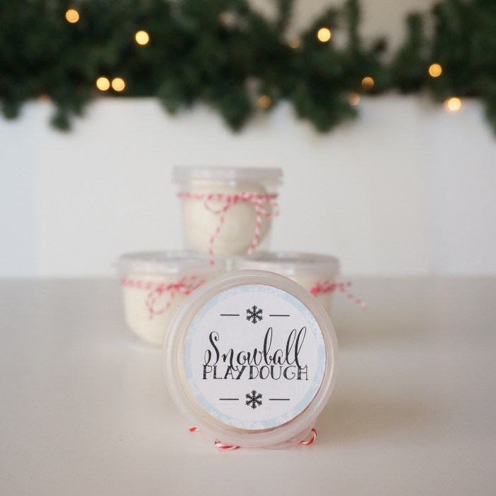 DIY Christmas Gift for Kids - Snowball Play Dough