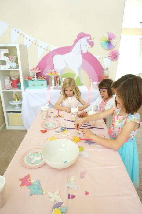 unicorn party - 5th birthday party - little girl party