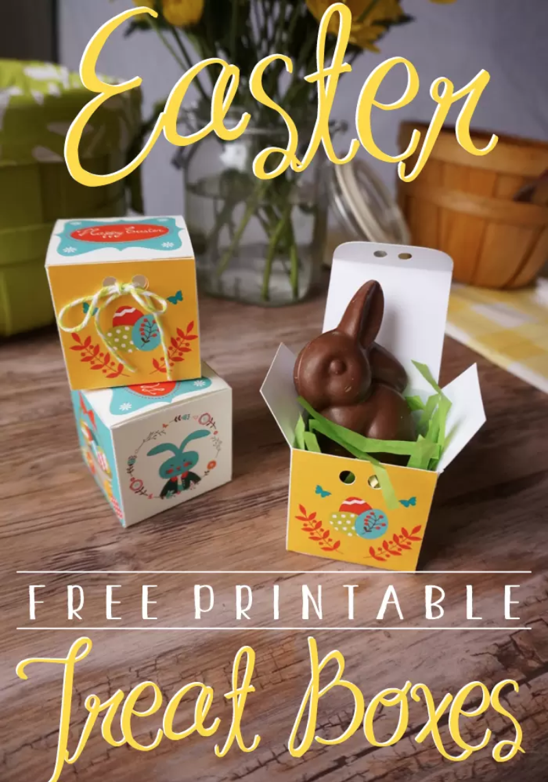 graphic regarding Printable Treats called Printable Deal with Box for Easter - The Caterpillar Yrs