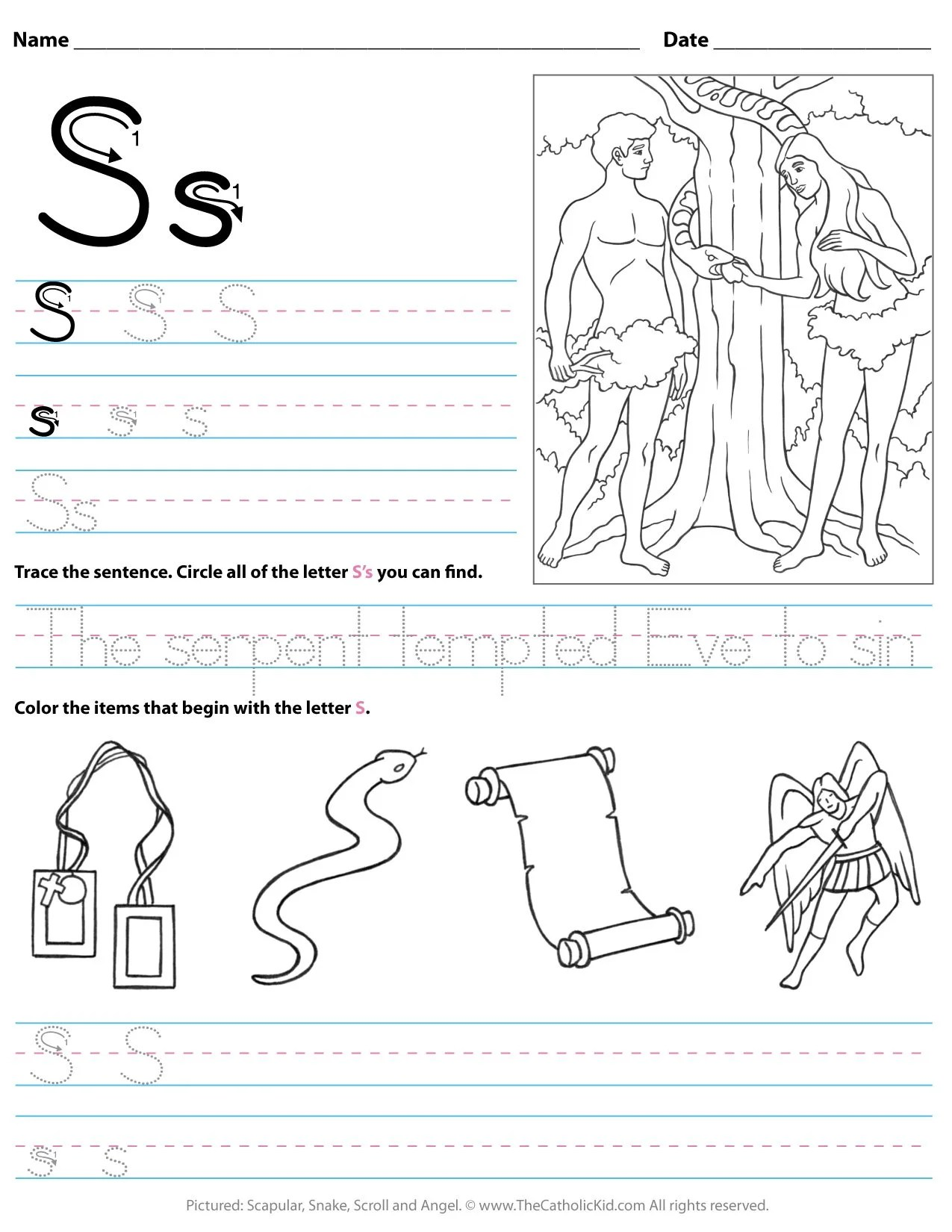 Worksheet For Kindergarten Letter I