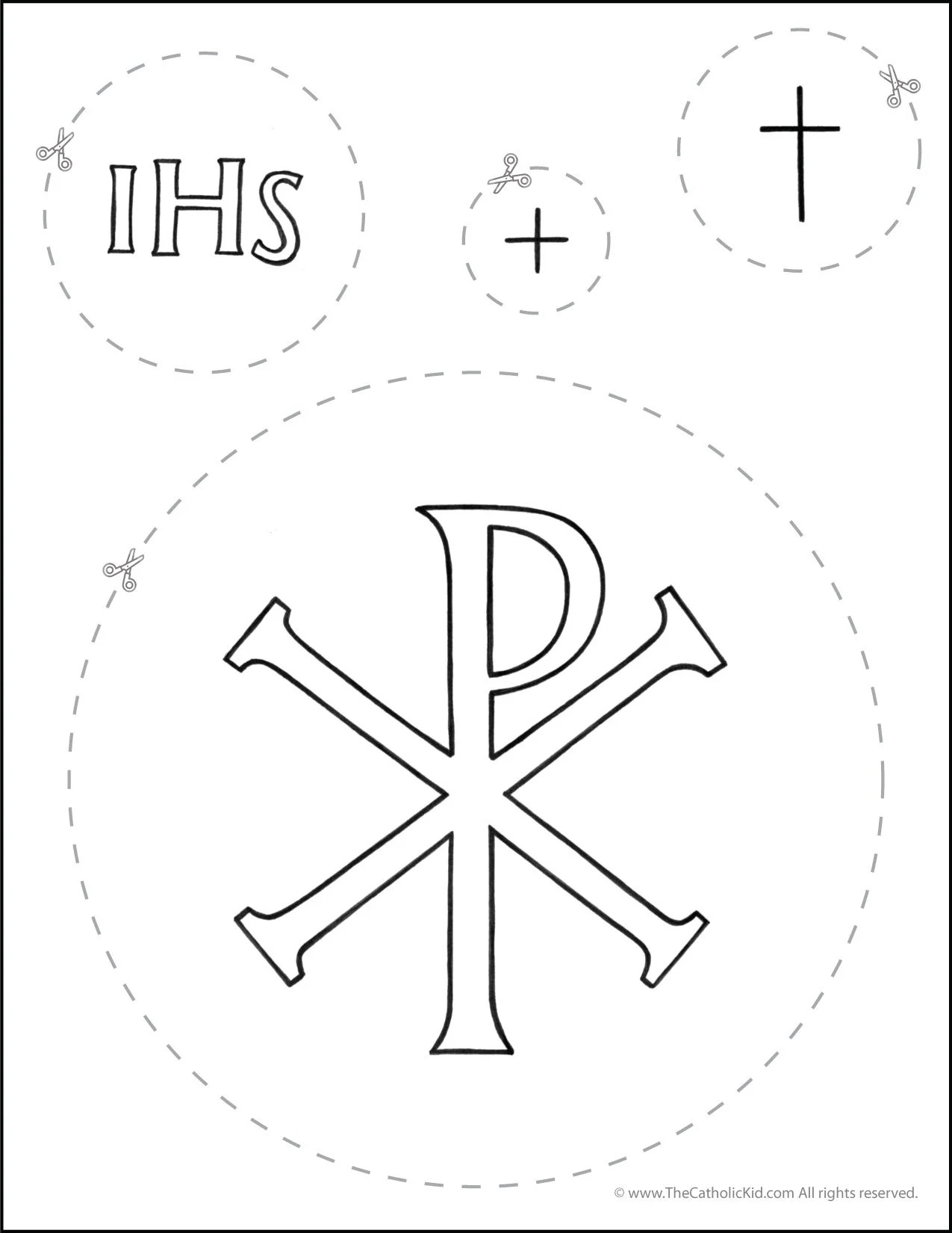Catholic Scissor Cutting Worksheet Circles
