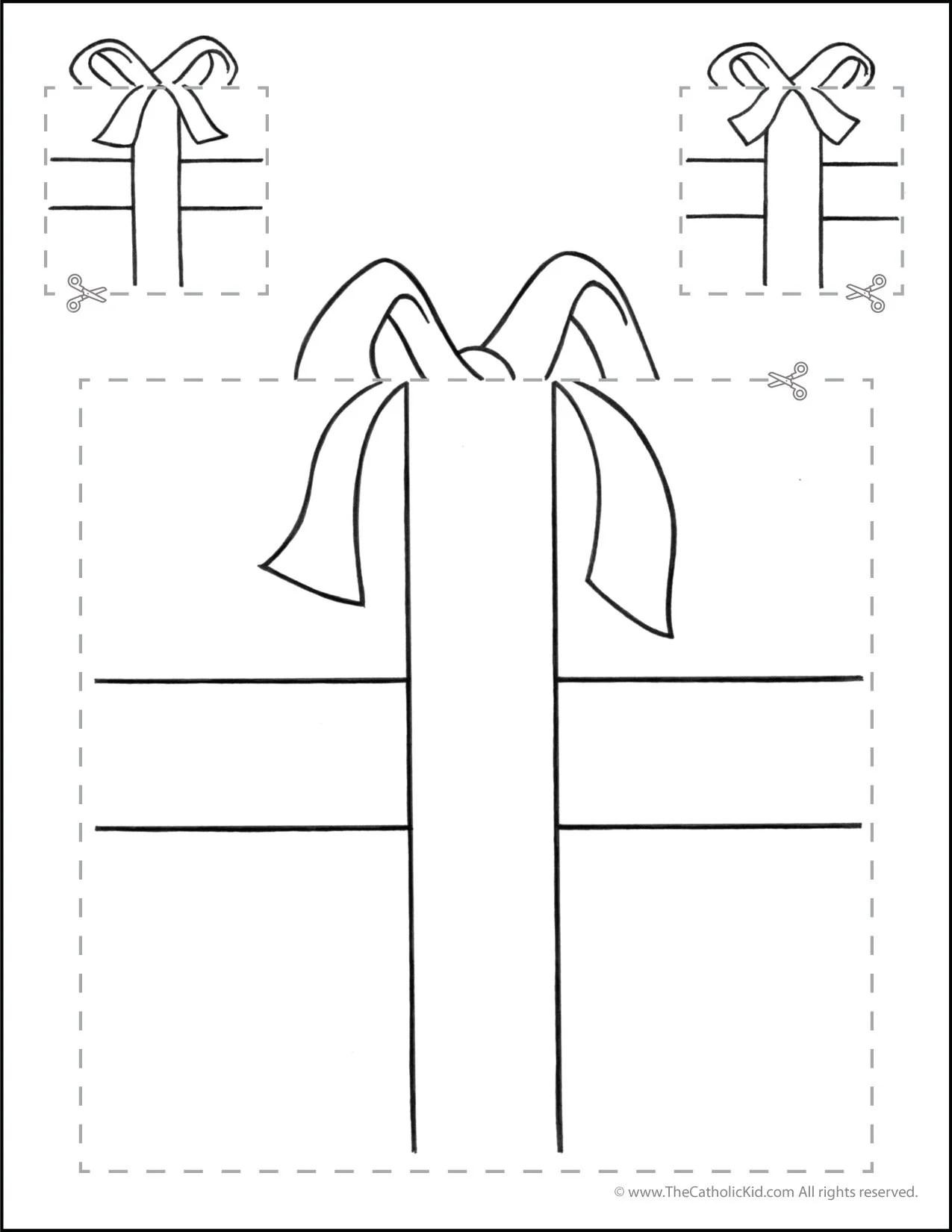 Catholic Cutting Worksheet Squares