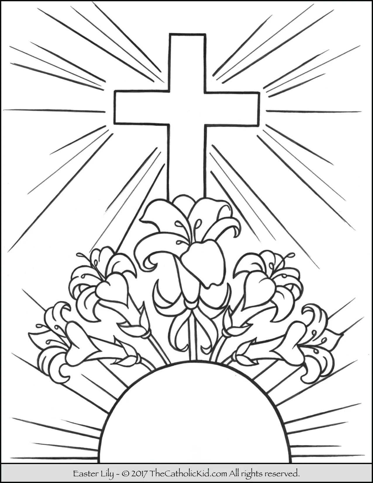 Easter Lily Coloring Page