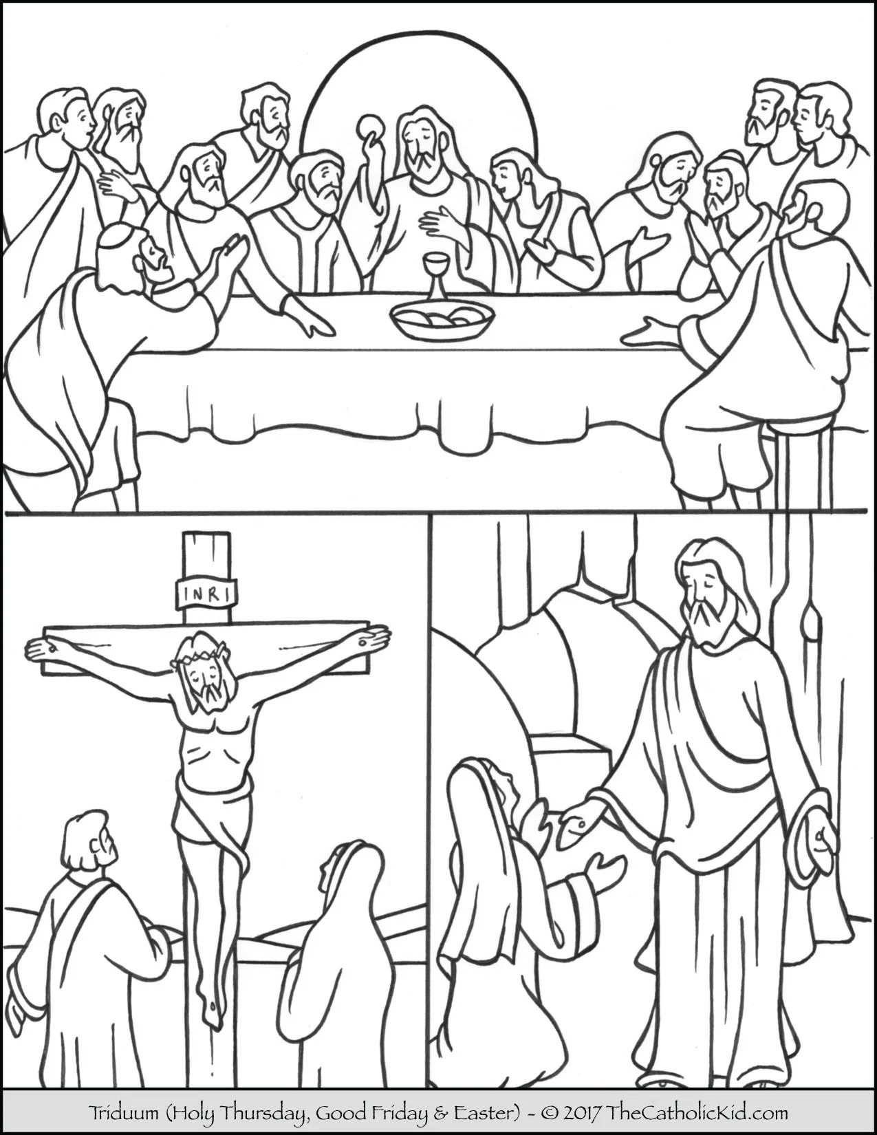 Easter Triduum Coloring Page