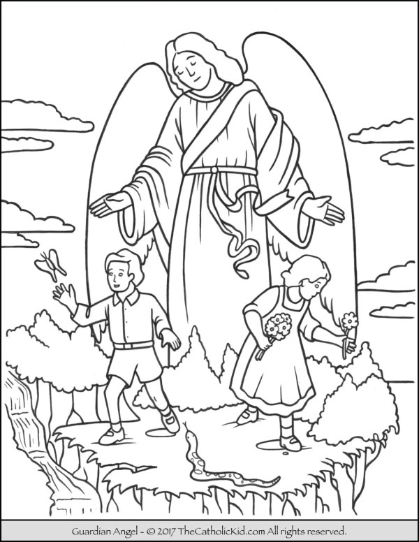 angels coloring pages # 9