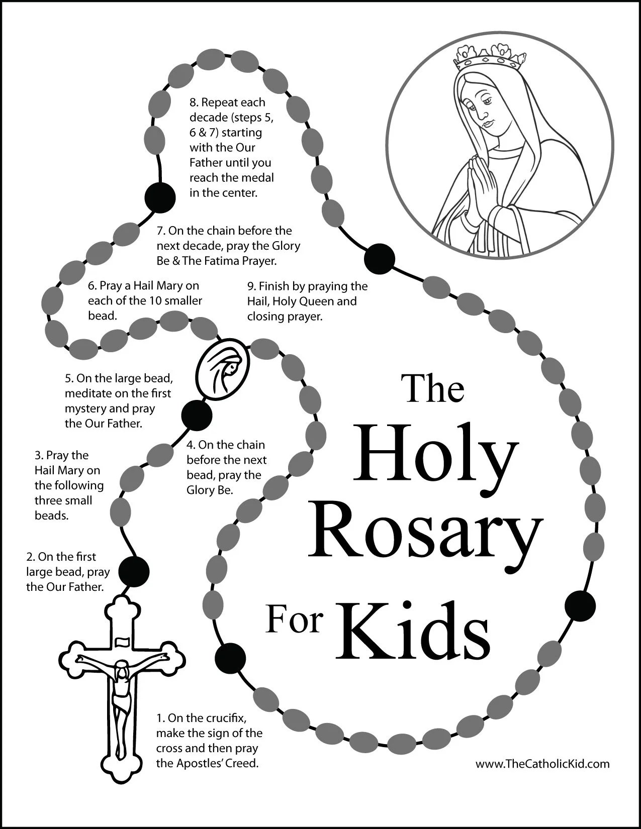 How To Pray The Rosary For Kids