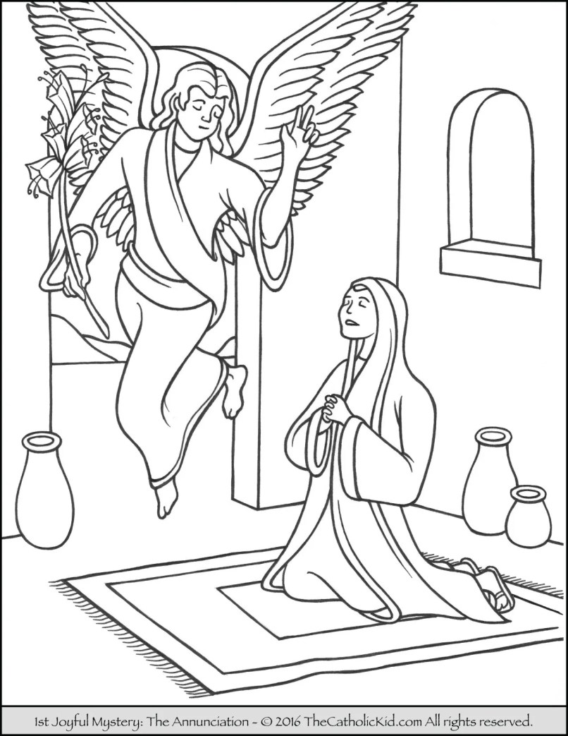 Rosary Mysteries Coloring Pages | Vivostar.co