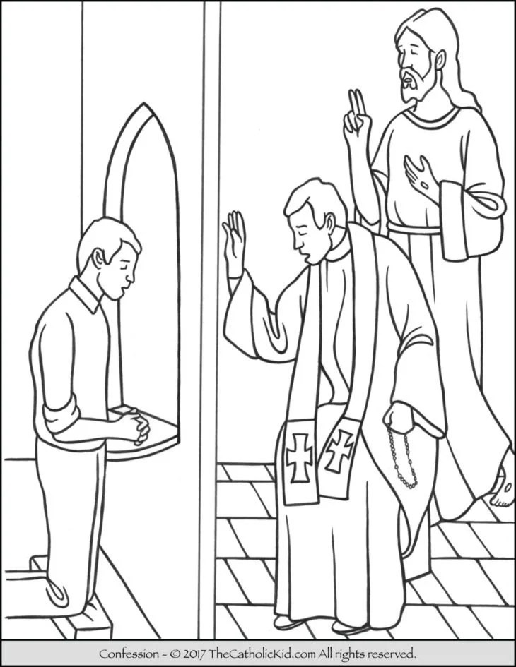 Forgiveness Archives The Catholic Kid Catholic Coloring Pages And Games For Children