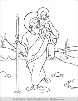 saint coloring pages # 7