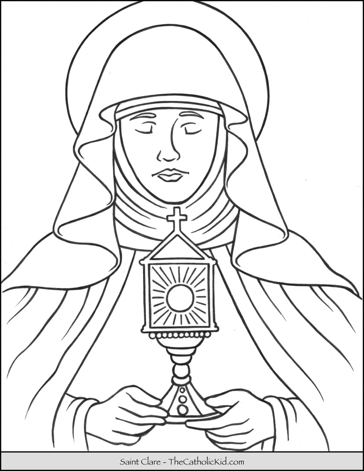 Saint Clare Coloring Page