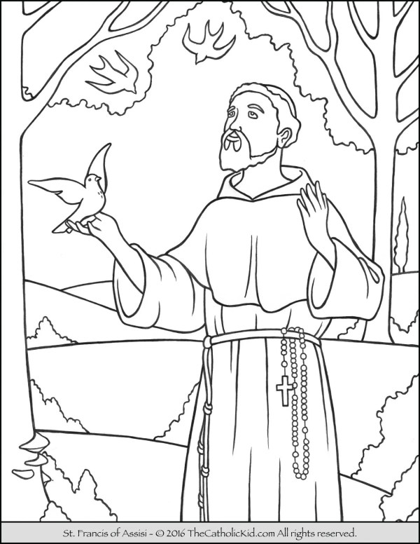 saint coloring pages # 1