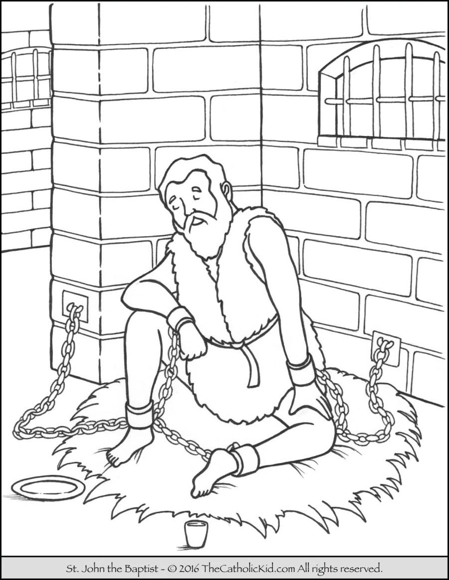 Saint John the Baptist Coloring Pages - The Catholic Kid