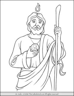 saint coloring pages # 2