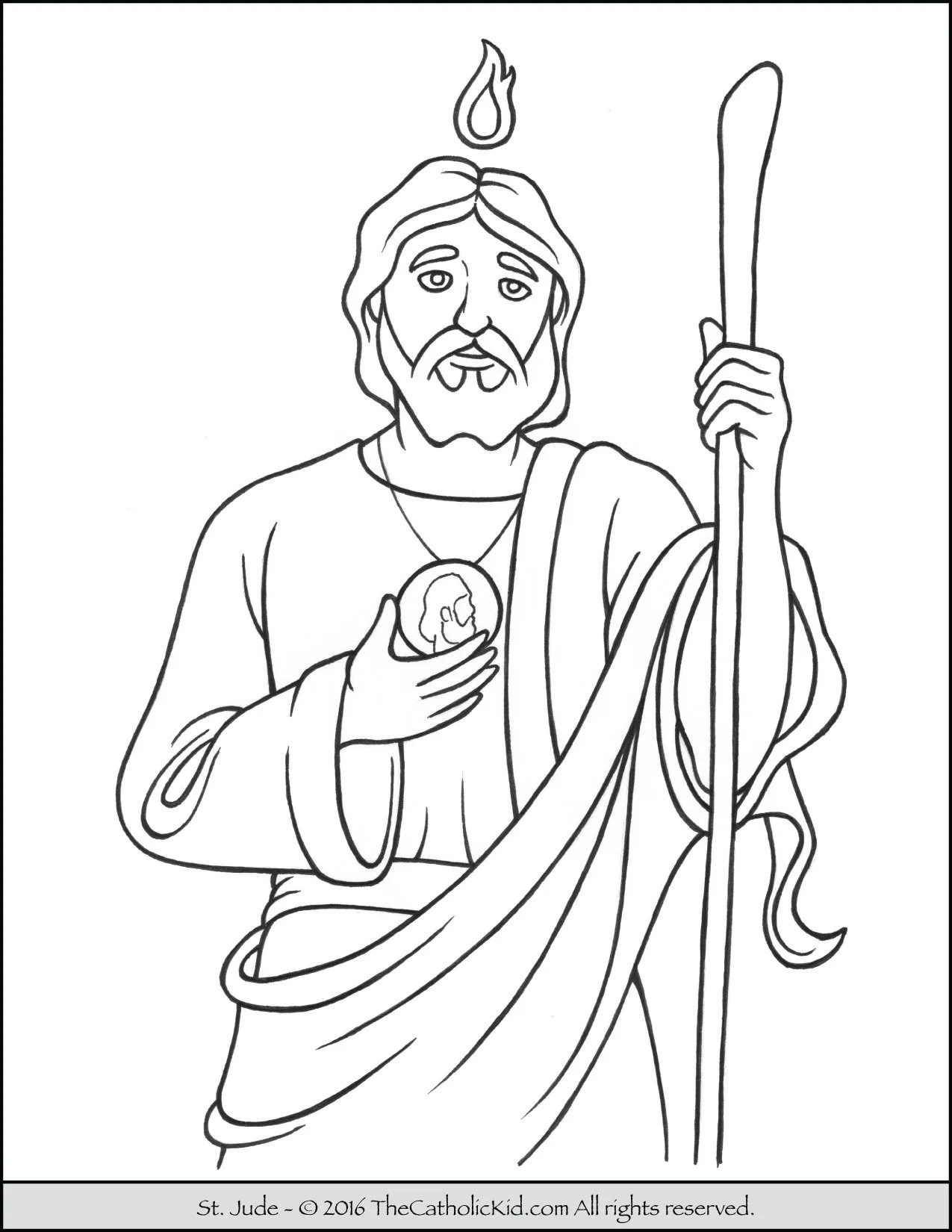 Saint Jude Coloring Page