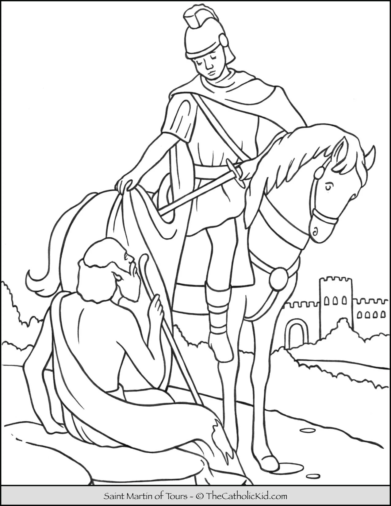 Saint Martin Of Tours Coloring Page