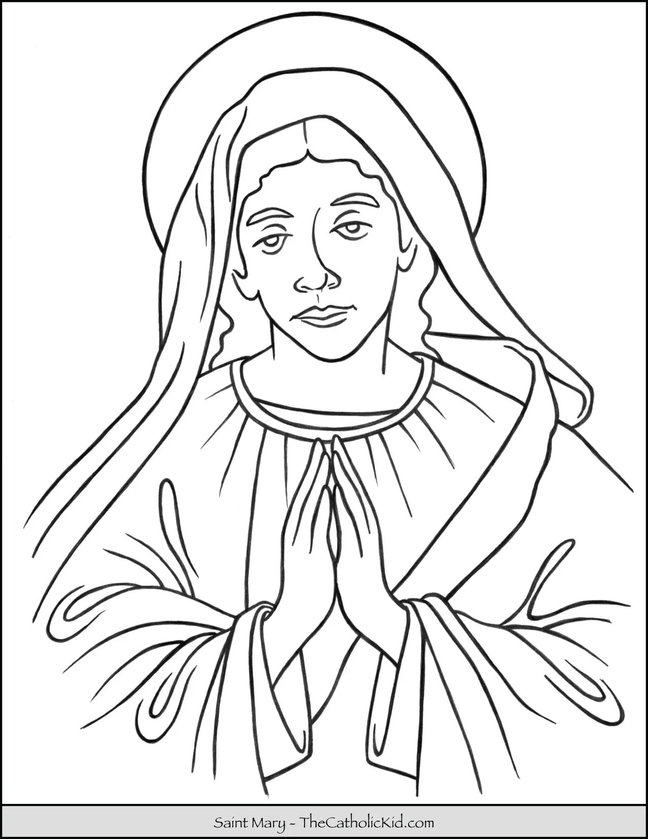 Saint Mary Coloring Page