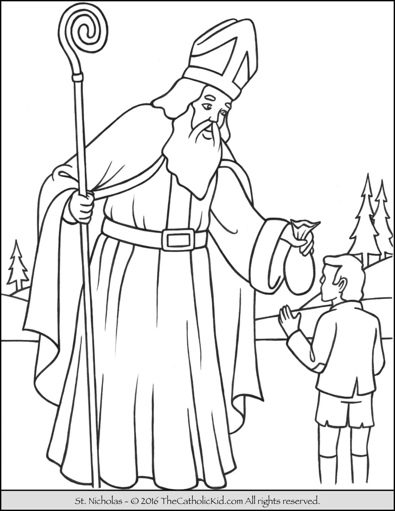 Saint Nicholas Coloring Page