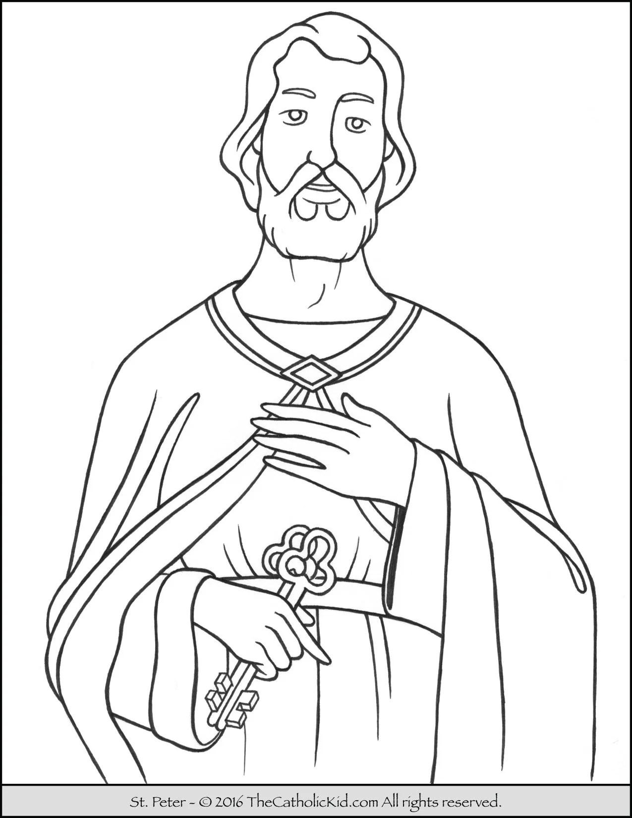 Saint Peter Coloring Page