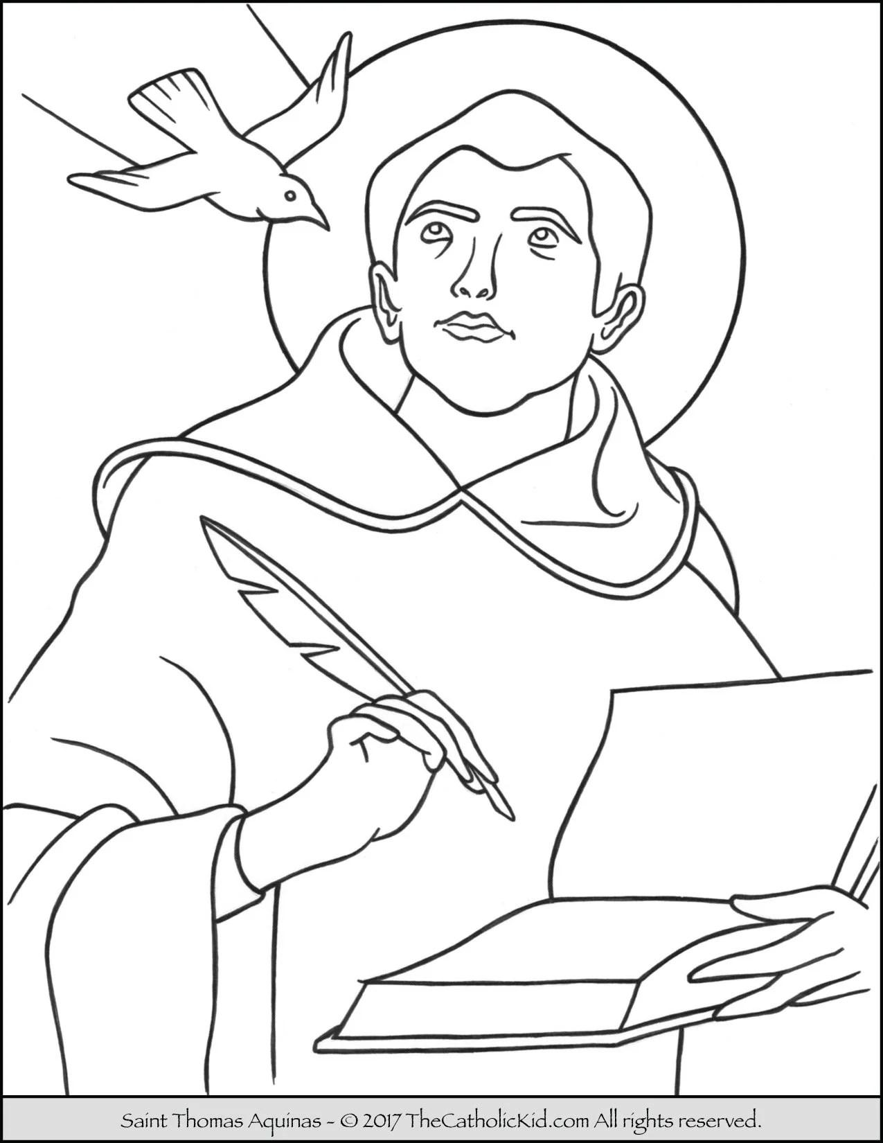 Saint Thomas Aquinas Coloring Page