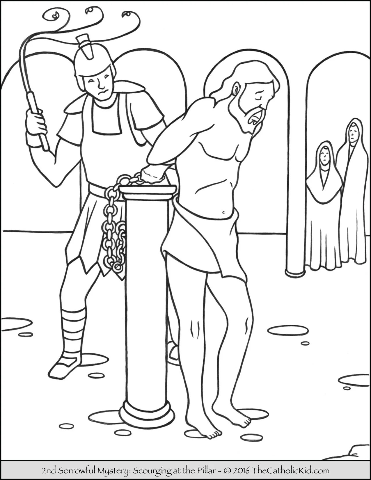 Sorrowful Mysteries Coloring Pages