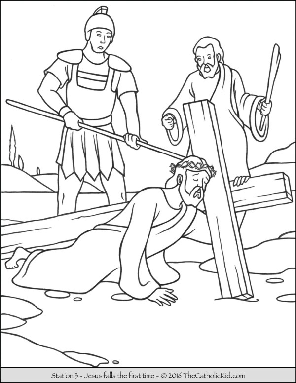 jesus on the cross coloring page # 37