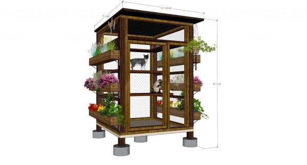 outdoor cat enclosure vertical garden catio design