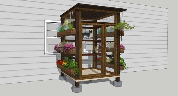 catio with vertical garden