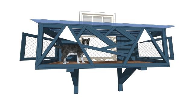 cat in window catio design