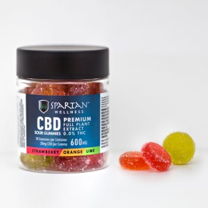 Spartan Sour CBD Gummies 600mg