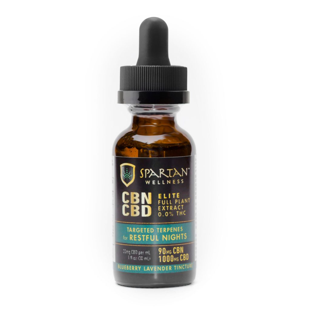 CBN ELITE TINCTURE W/CBD - RESTFUL NIGHTS - SPARTAN TARGETED TERPENES & CANNABINOIDS