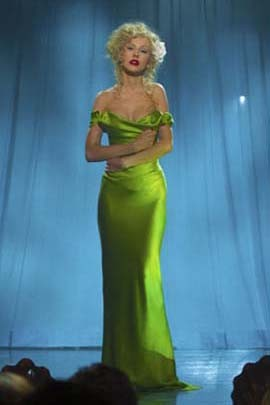 Christina Aguilera Sexy Green Off The Shoulder Prom Dress