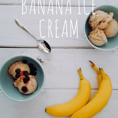 No-Churn Banana Ice Cream