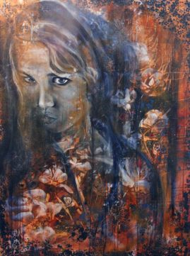"36"" x 48"" Mixed media on canvas"
