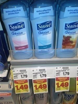 $.25/1 Suave Deodorant = $.49 at Fry's