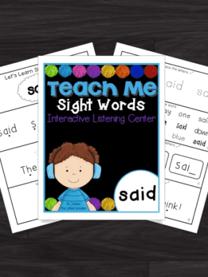Educational Freebie:  Teach Me Sight Words Interactive + Audio Download